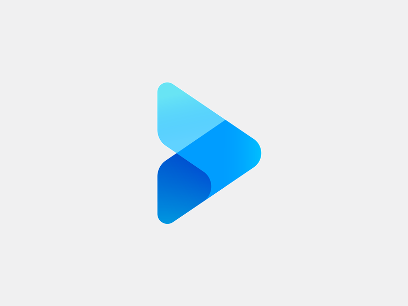 VONTY Icon gaminglogo video play brand mark geometry colorful simple logo blue gradient mark logo design aiste startup branding agency logo mark minimal branding tieatie icon logo