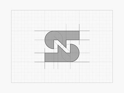 S+N negative space monogram icon [GRID] sn grid logo grid design grid system grid layout construction logo logo type typography tieatie aiste logo design minimal n letter s letter monogram negative-space negative space logo negative space branding