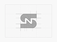 S+N negative space monogram icon [GRID]