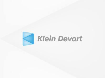 Klein Devort it logo tie tie a tie blue grey klein devort k d developers