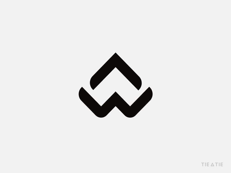 A + W monogram icon design letter brand startup w letter monogram letter mark negative space logo design brand strategy design strategy aiste branding agency logo mark icon branding minimal monogram logo monogram tieatie logo