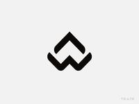 A + W monogram icon
