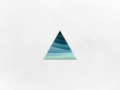 Shape icon logo design icon mark startup minimal illustration branding gradient logo gradient design gradient color gradient icon aiste branding agency logo mark tieatie triangle sea waves blue logo