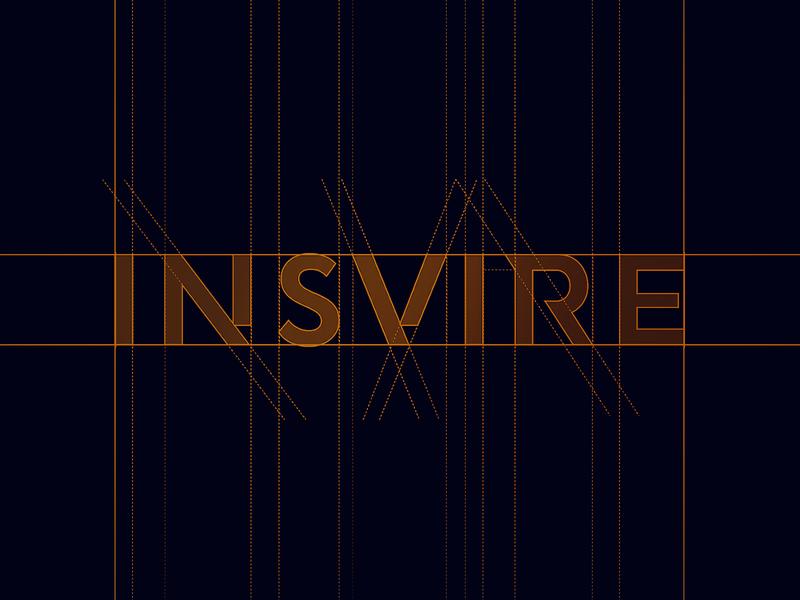INSVIRE - custom typeface grid logo grid construction geometry simple logo design gradient icon brand logo design aiste startup branding agency minimal logo mark branding typeface designer typeface design typeface tieatie
