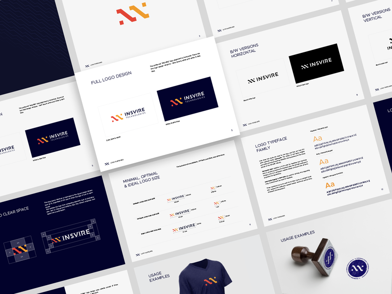 INSVIRE Brand Guidelines minimal logo mark aiste startup brand aid branding agency identity system brand assets brand and identity brand architect brand agency tieatie branding logo guide logo book brand guideline brand guidelines brand guide guidebook guidelines