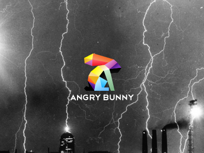 Angry bunny bunny angry logo color tie tieatie blue red orange violet yellow