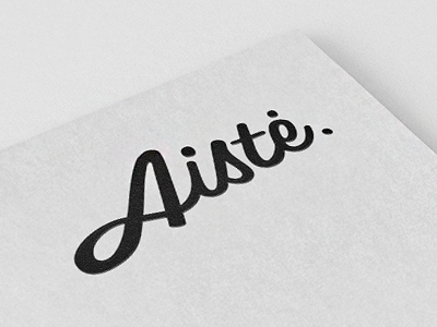 Aiste logo concept #1 aiste logo calligraphic type font black typography letters name tie tie a tie brand identity. typographic calligraphy