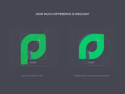 How much difference is enough? brand aiste branding copyrights copyright trademark copy minimal logo design sprout leaf assetly ramotion logo grid logo mark icon logo