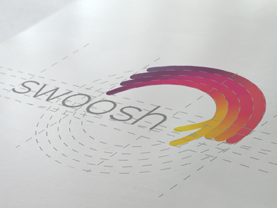 swoosh identity swoosh logo tie a tie brand branding guides rules colourful vivid fun mark icon swipe touch