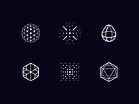 Futuristic drone logos