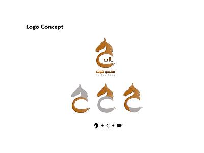 Colt Cafe logo identity printing illustrator logo branding calligraphy logo illustration design