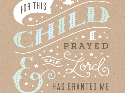 For This Child lettering typography vector