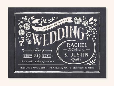Alabaster Florals lettering typography vector floral wedding invitation vintage