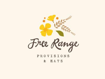 Free Range logo identity branding floral organic