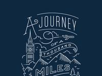 Journey navy print