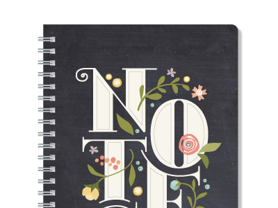 Notes Dribbble typography custom lettering hand lettering flowers minted illustration trellis notes