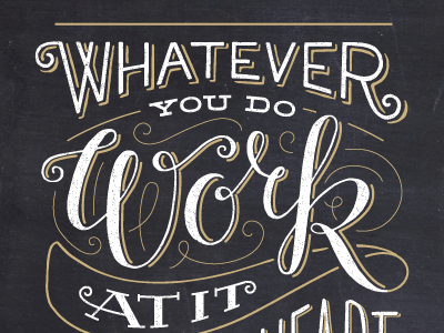 Whatever you do lettering typography vector vintage