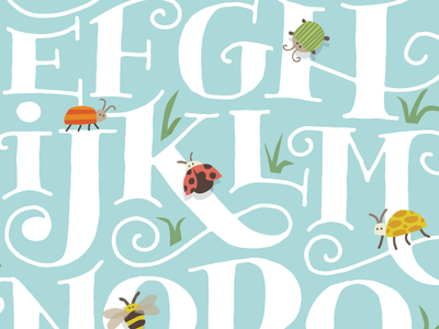 Alphabugs hand lettering childrens art insects alphabet