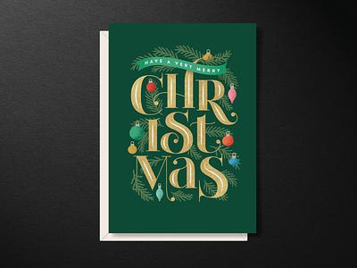 Christmas Letters custom lettering mid century modern vector illustration lettering typography