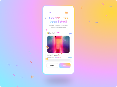 NFT Asset Screen dailyui creative component user interface userinterface code eth tokenization nftart toke figma ui ux radial design token nft