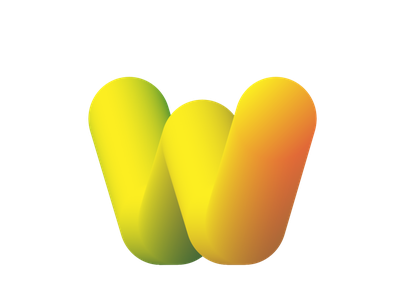 W typography design illustraion illustrator art vector logo animation