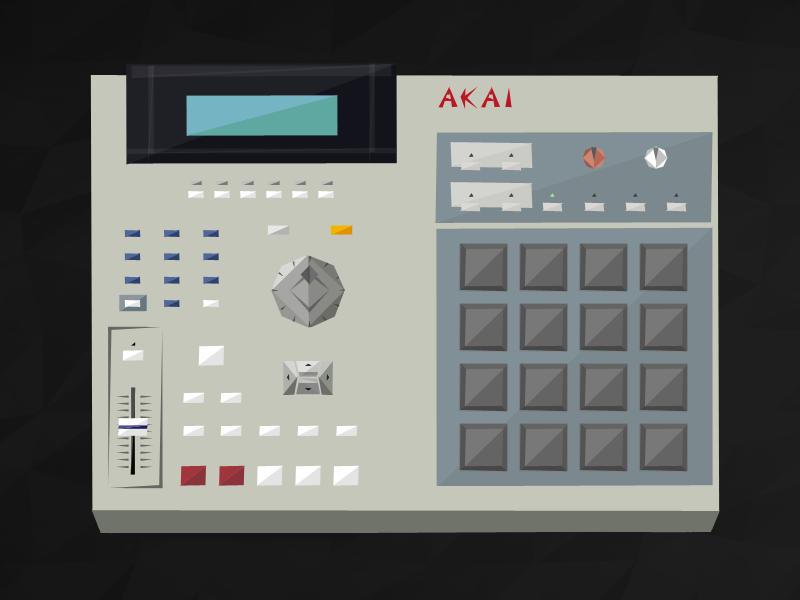 Akai MPC2000XL akai mpc music illustration