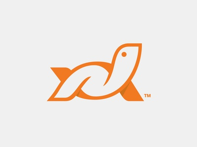 The Turtle brandmark identity branding logo logomark turtle animal orange
