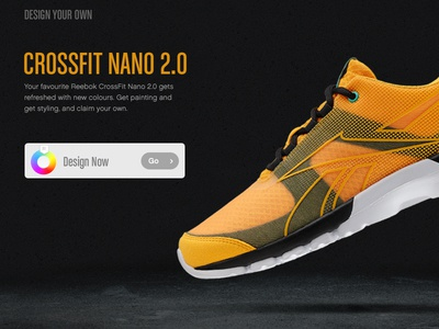 Reebok - Design Your Own reebok ui yellow sport crossfit sneakers ecommerce