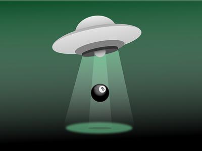 8ball Ufo saucer flying ufo 8ball