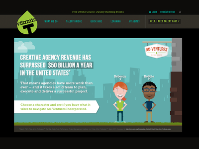 Vitamin T Ad-Ventures design development illustration javascript css