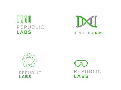 Republic Labs logos branding illustration