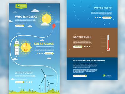 NCSEA infographic vector illustration design