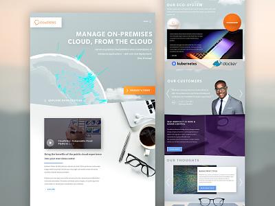 Cloudistics 3d web design