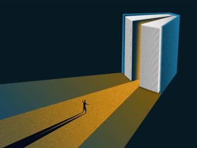 I want knowledge dawn light dark print book