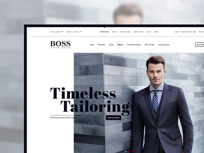 Hugo Boss Homepage Alternate photoshop design e-commerce layered ecommerce grid photographic web design retail luxury fashion website