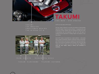 Nissan GT-R web design typography dashboard nissan cars photoshop design website ui homepage
