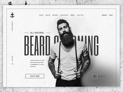 Beard Grooming Concept web design e-commerce concept grey ecommerce black photoshop ui beard website
