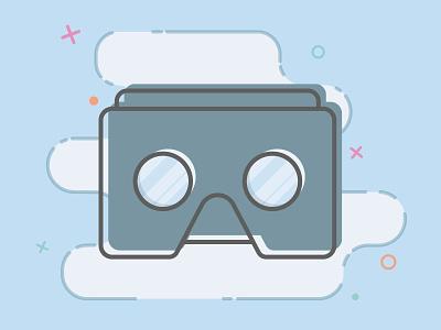 VR virtual reality illustration vr