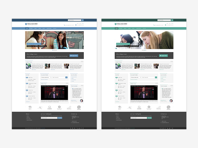 College Green Bootstrap 4 Theme For Education