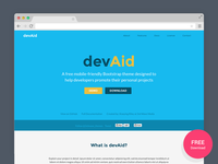 devAid – Free Bootstrap 4 Theme for Developers' Side Projects