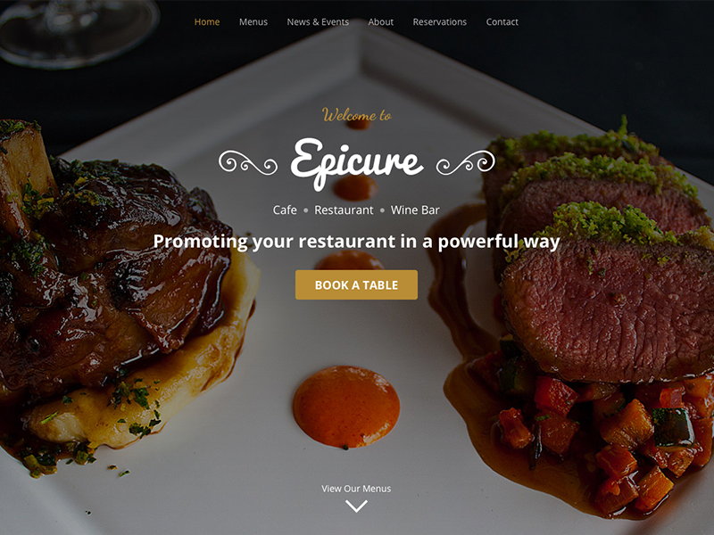 Epicure – Bootstrap 4 Template for High-end Restaurants food bootstrap 4 restaurant bootstrap theme landing page website template responsive theme html5 css bootstrap