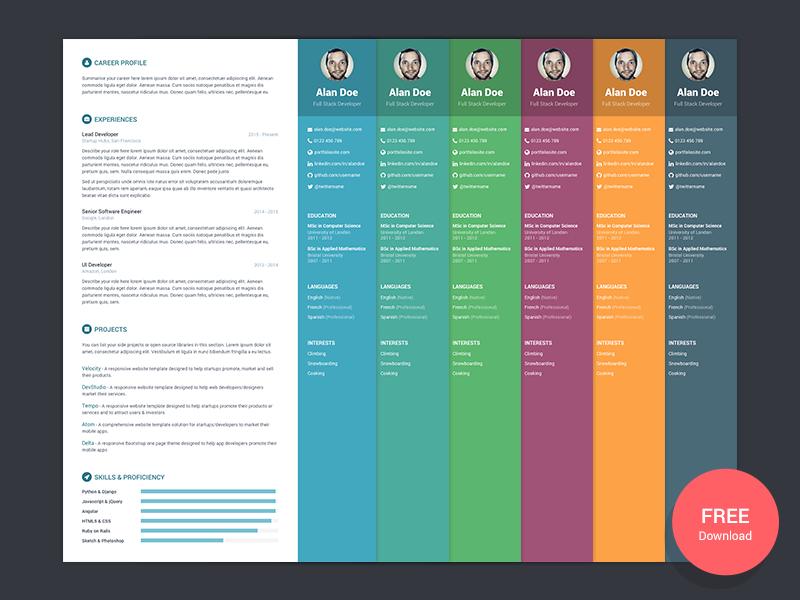 Orbit Free Bootstrap 4 Resume CV Theme For Developers