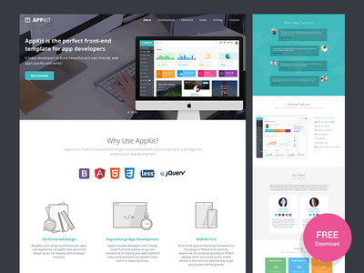 Appkit Landing - Free Bootstrap Landing Page for Startups