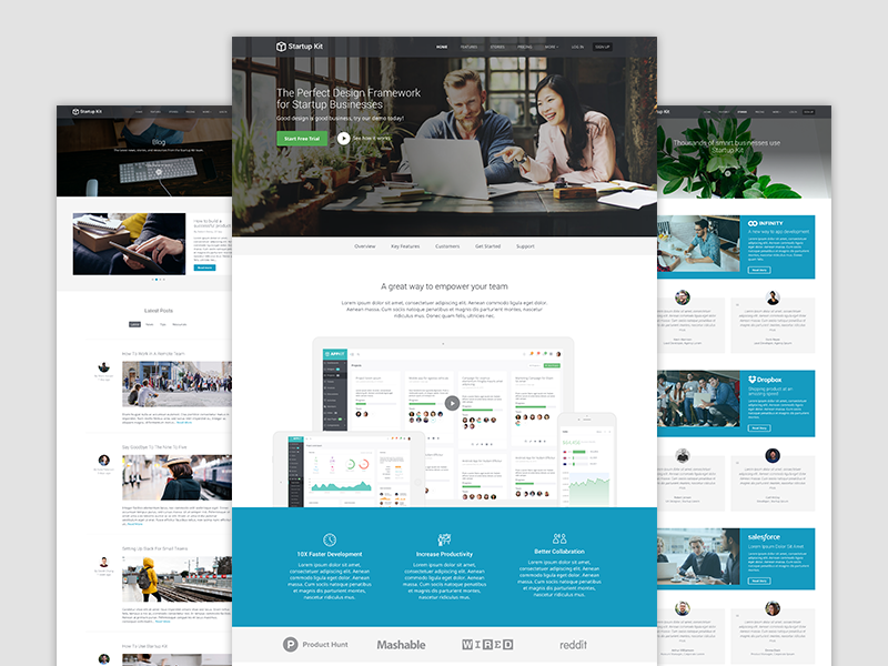 Startup Kit - For SaaS Startups template bootstrap 4 product startup bootstrap theme theme responsive marketing website template html5 css bootstrap