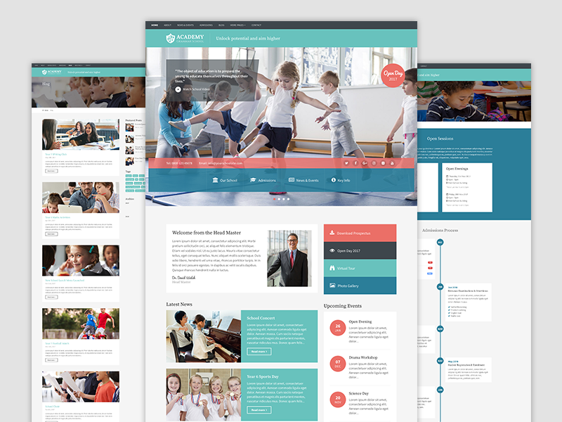 Academy - Bootstrap 4 Theme for Schools template theme bootstrap 4 education school bootstrap nursery learning kindergarten kids daycare children