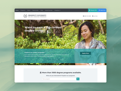 Prospect - Bootstrap 4 Template For Education landing  page responsive html bootstrap template bootstrap 4 elearning college university universities education marketing landing page bootstrap theme css html5 website template bootstrap