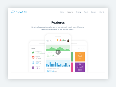 Nova Pro – Bootstrap 4 Theme for Mobile App Startups html template bootstrap 4 css html5 theme startup marketing mobile app website template bootstrap theme bootstrap template bootstrap