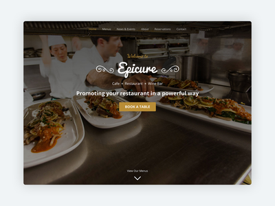 Epicure – Bootstrap 4 Template for High-end Restaurants bakery landing page cafe restaraunt food responsive marketing html theme css html5 bootstrap theme website template bootstrap template bootstrap 4 bootstrap