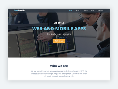 DevStudio – Bootstrap 4 Theme for Web Development Agencies freelancer freelance business webdeveloper web development company web development services developers website template startup responsive html5 css marketing bootstrap template theme bootstrap theme bootstrap 4 bootstrap