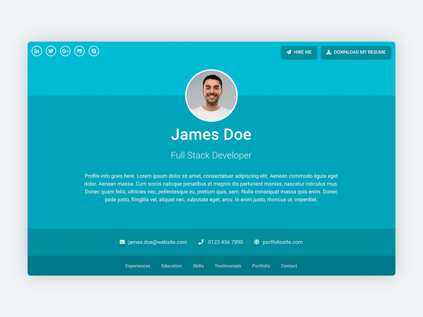 Sphere Bootstrap 4 Template For Resume CV Portfolio Software Development Developers Developer Website